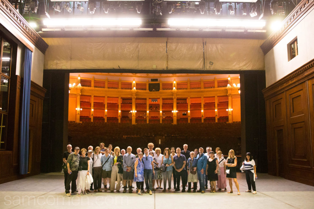 The Industry team and supporters on stage at Bayreuth